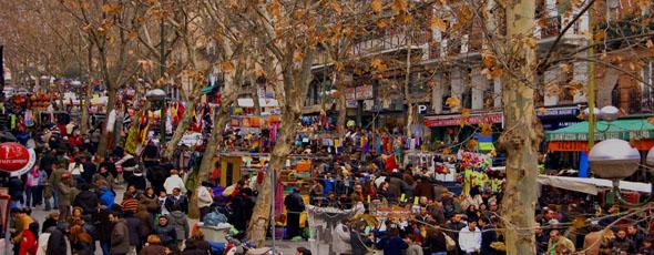 Loppmarknaden El Rastro Madrid
